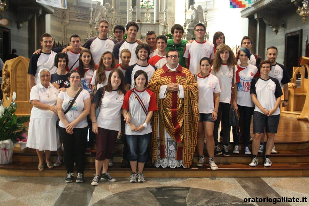 Don Fabrizio ed i giovani dell'Oratorio