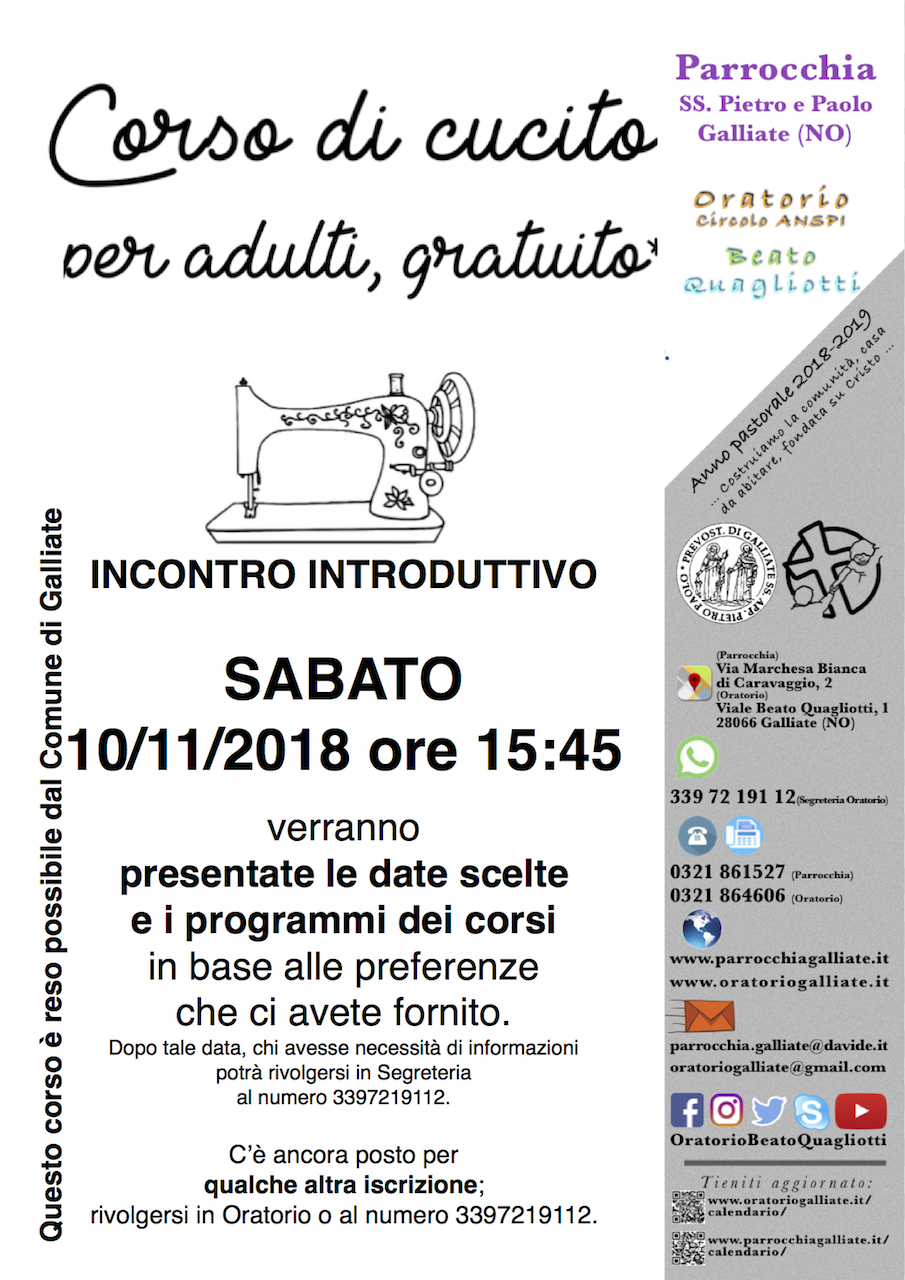 bp181100-Comune_ParrocchiaGalliate-CorsoCucito-DateIniziali_